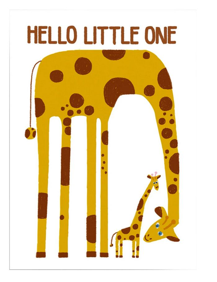 Hello little one Giraffe Postkarte