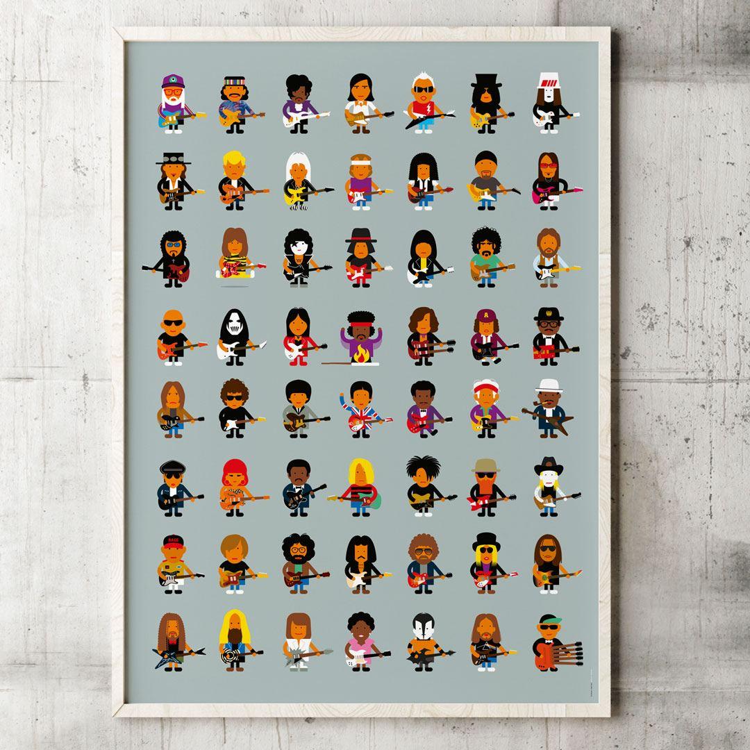 Guitar Players Poster (50 x 70cm)