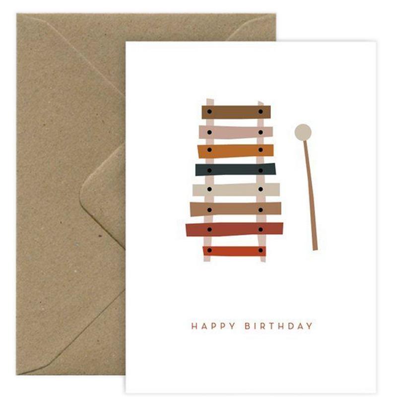 Happy Birthday Xylophone Klappkarte