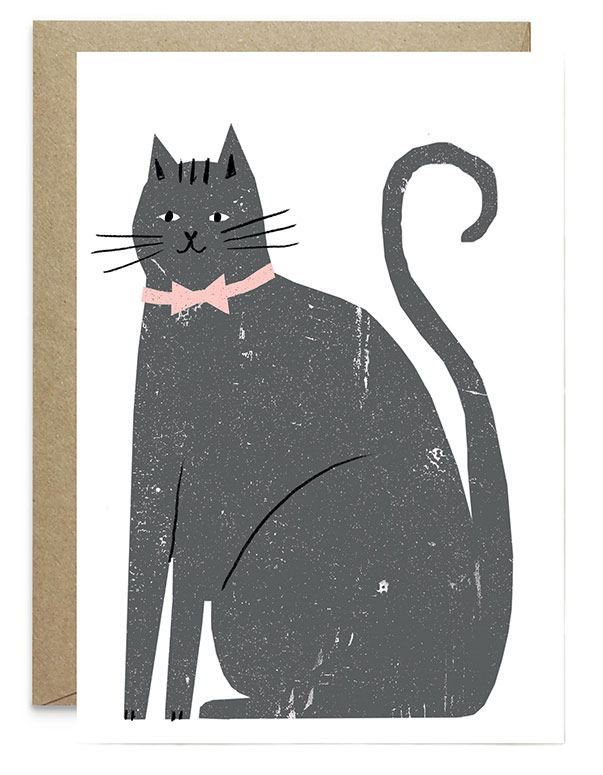 Cat Klappkarte