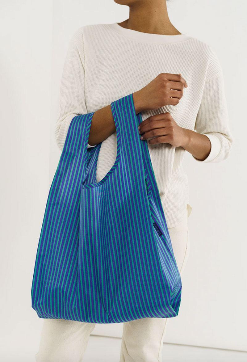 Einkaufsbeutel Stripe Cobalt and Jade