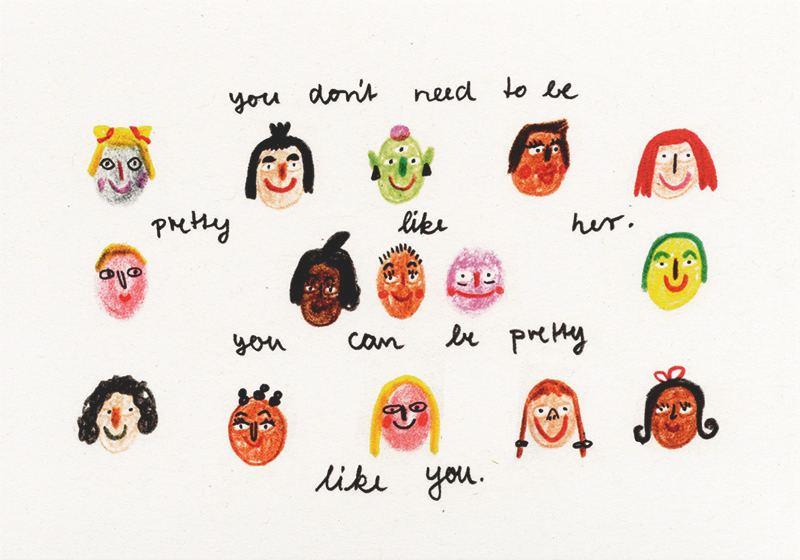 Pretty like you Postkarte