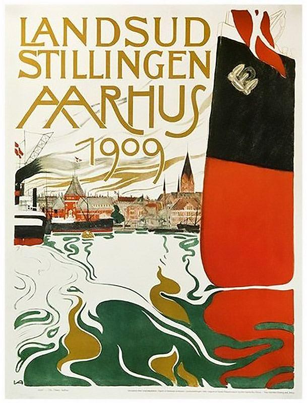 Aarhus 1909 Plakat (64,5 × 86 cm)