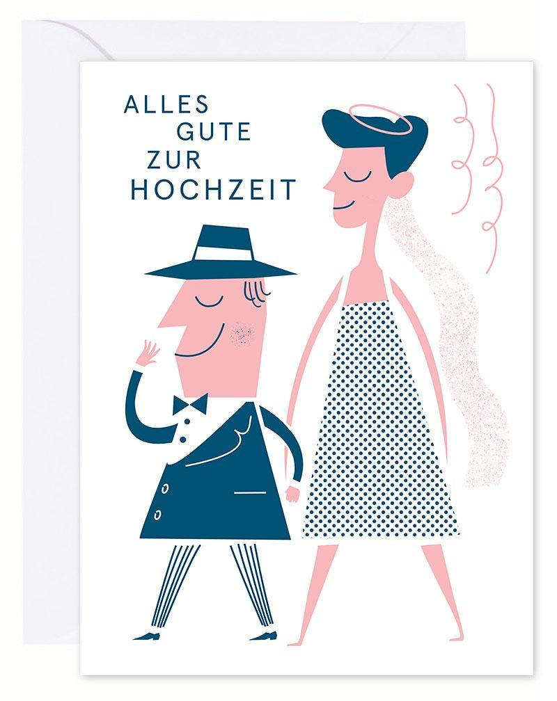 Alles Gute zur Hochzeit Karte