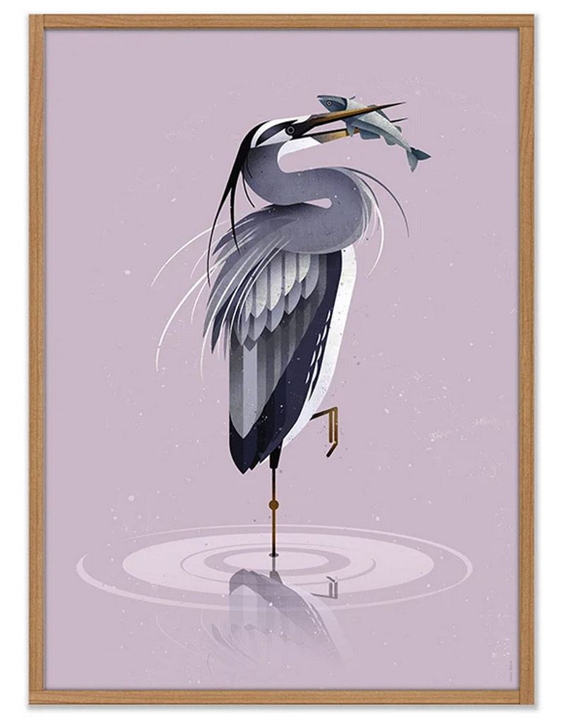 Grey Heron Poster (50 x 70cm)