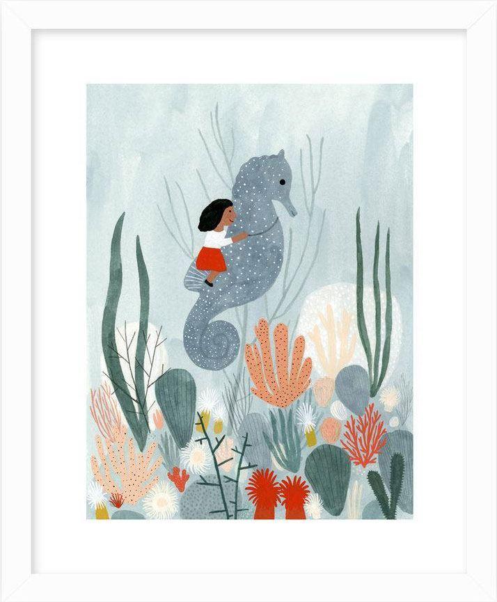 Seahorse Ride Print (ca. 20 x 25cm)