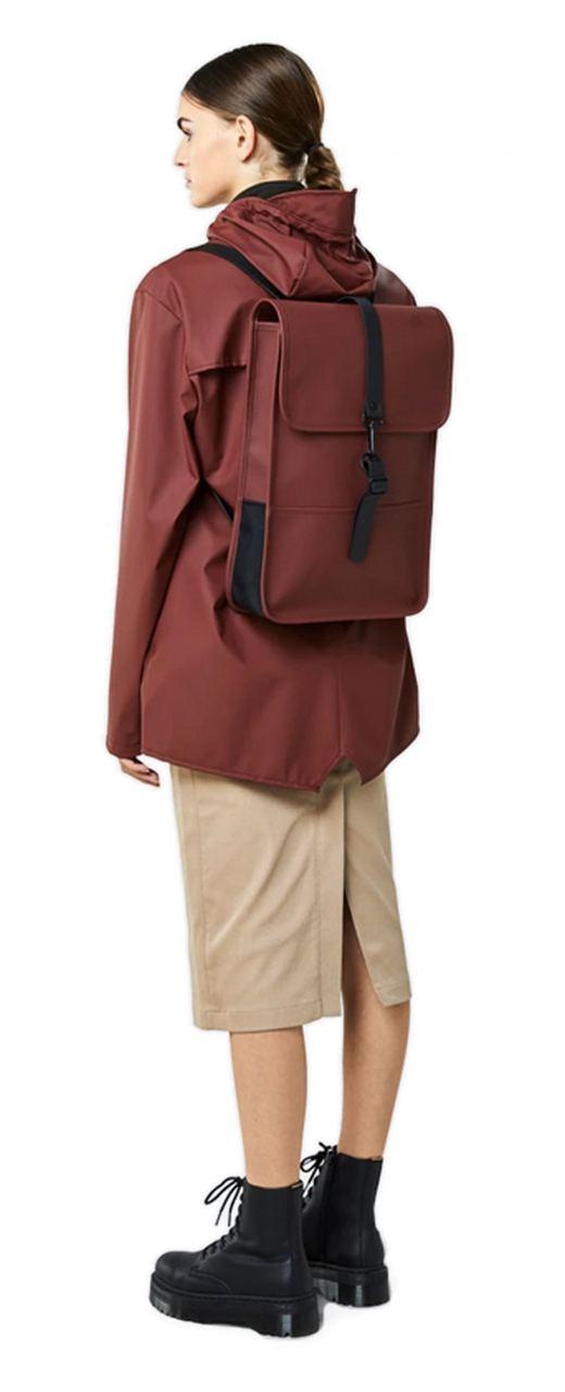 Rains Mini Backpack Maroon