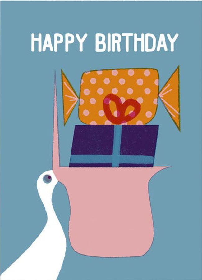 Pelikan Happy Birthday Postkarte