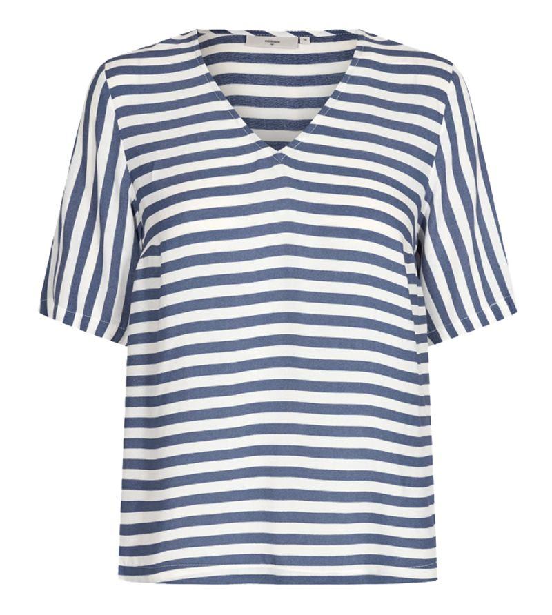 Elvire V-Ausschnitt Shirt China Blue