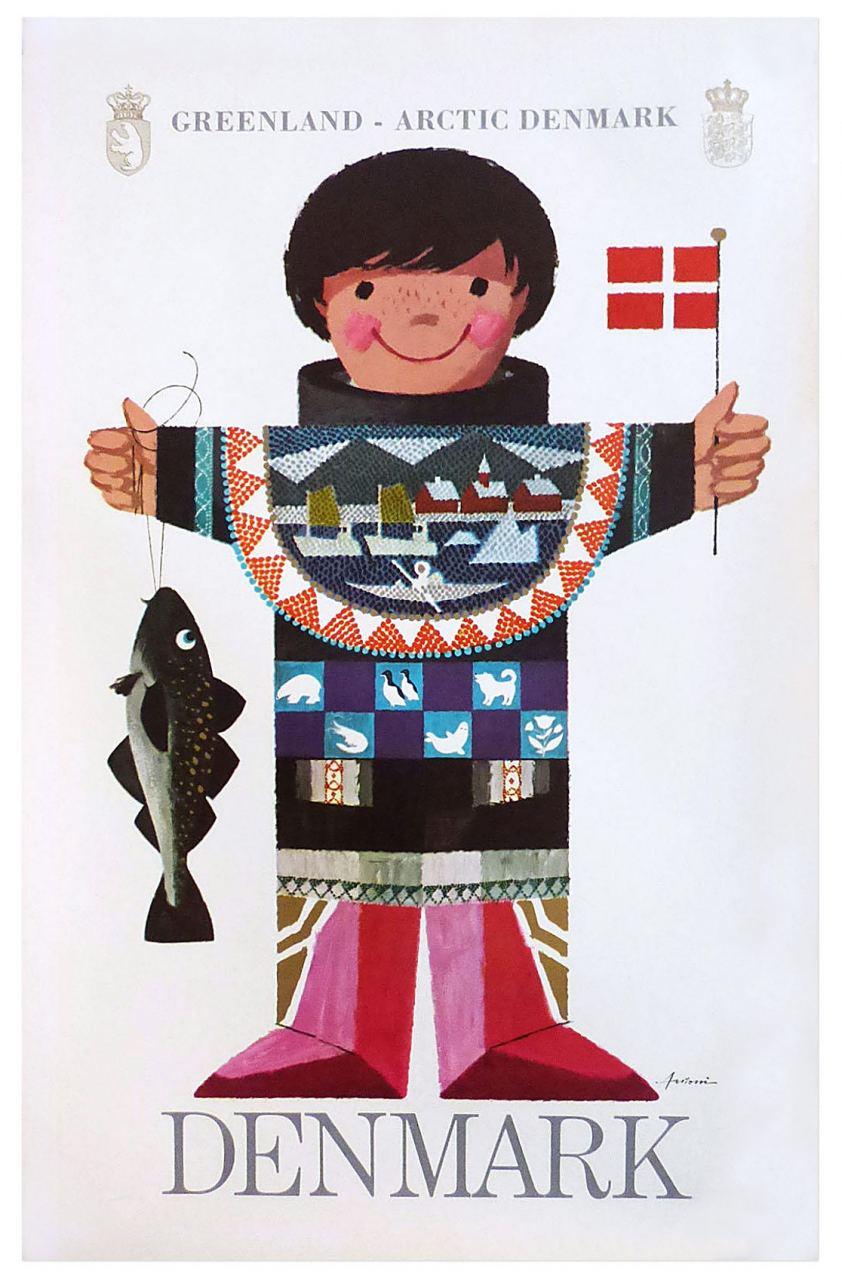 Ib Antoni Greenland - Arctic Denmark Plakat (36 × 57 cm)