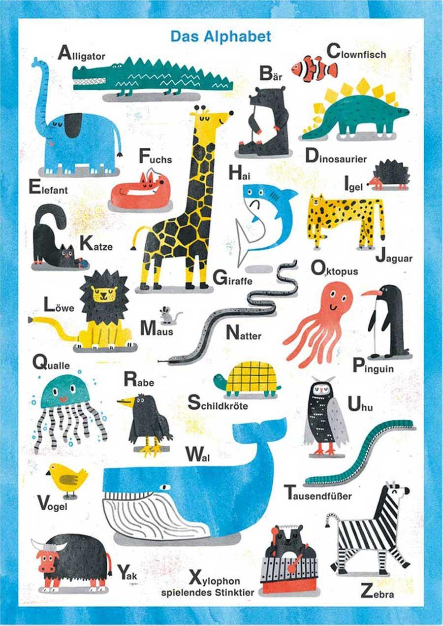 Tier Alphabet Print (Din A3)