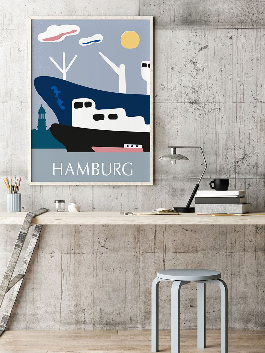Hamburg 3 Schiffe Poster