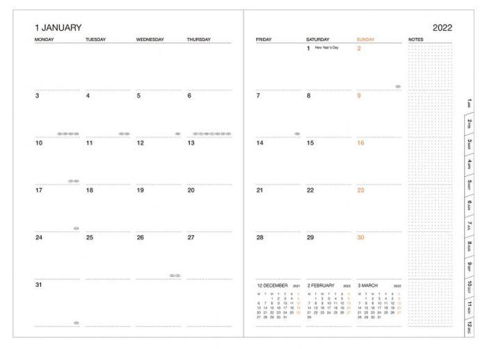 2022 Kalender A5 Storage.it Black