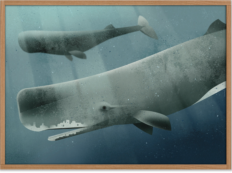 Whale #2 Poster (50 x 70 cm)