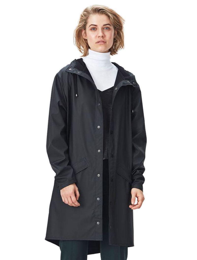 Rains Long Jacket Black