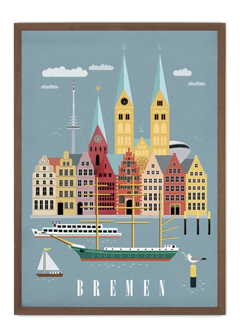 bremen 2 poster 50 x 70 cm human empire studio human empire shop. Black Bedroom Furniture Sets. Home Design Ideas
