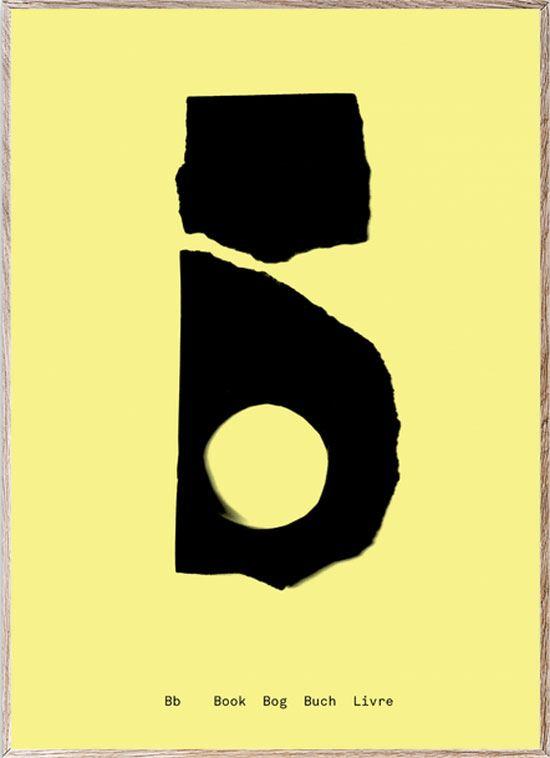 B - Alphabet Spaghetti Letter Print (Din A5)