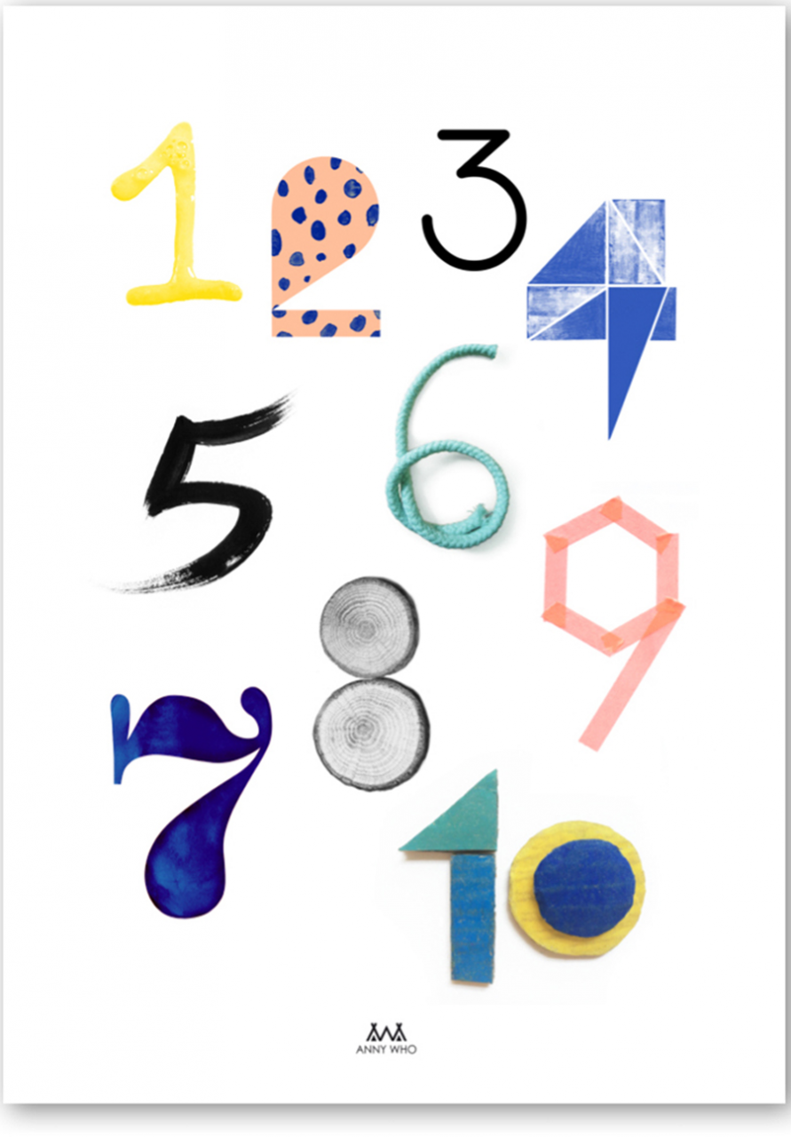 Numbers Poster (50 x 70 cm)