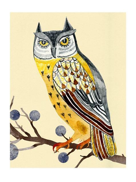 Swedish Owl Postkarte