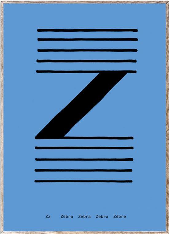 Z - Alphabet Spaghetti Letter Print (Din A5)