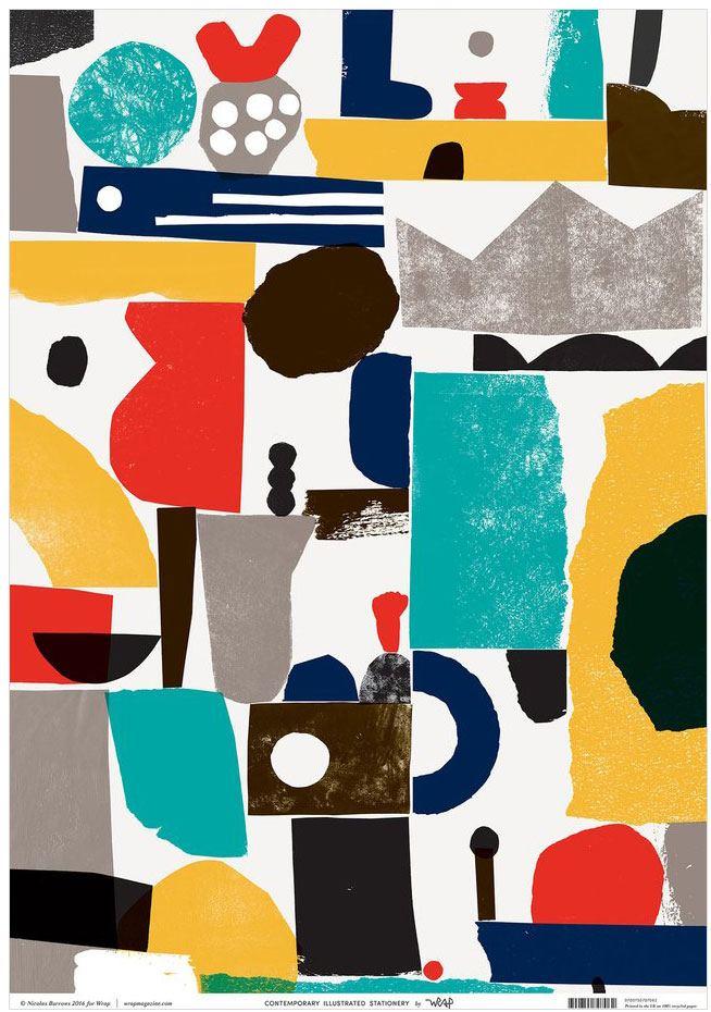 Collage Geschenkpapier