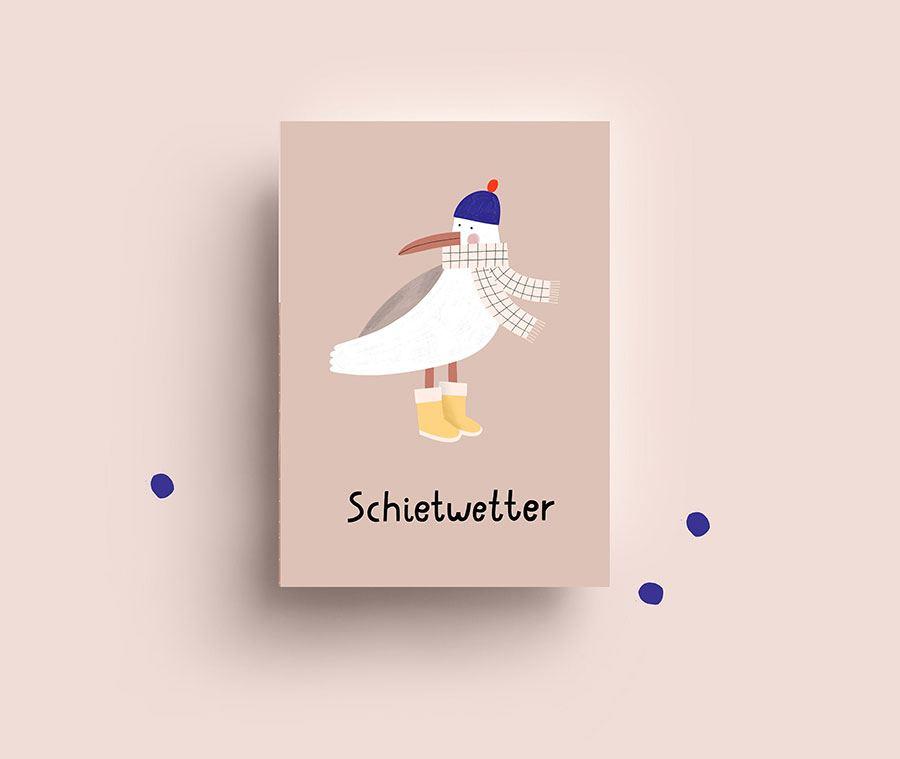 Seagull Postkarte