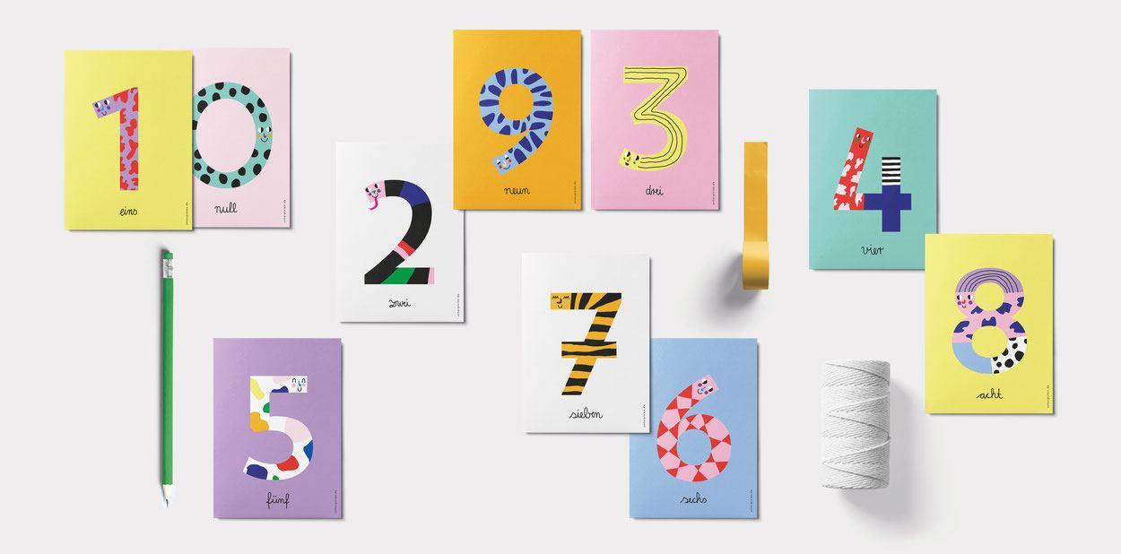Sieben Postkarte