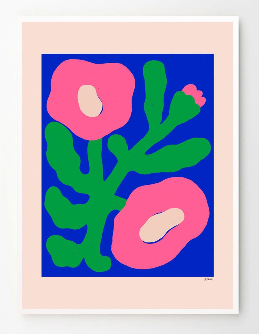 Pink Poppies Poster (50x70cm)