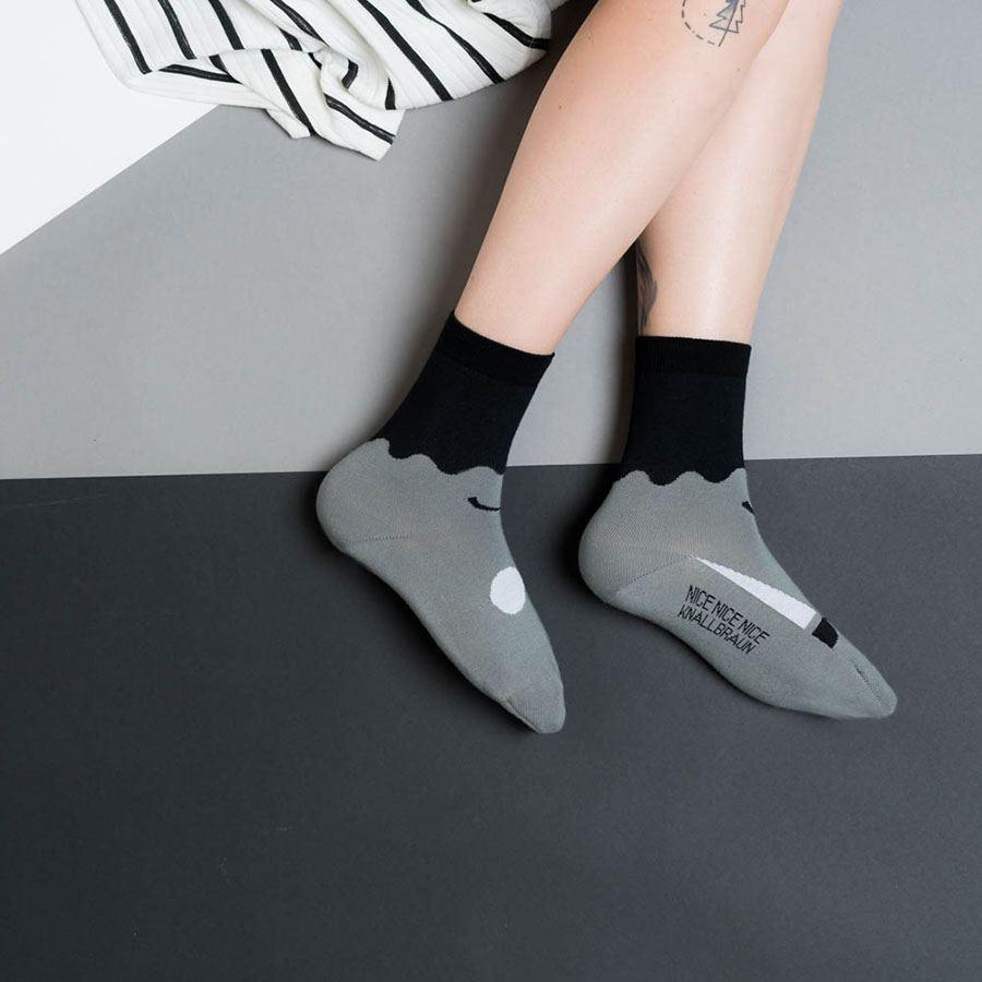 Friendly Socks Big Face Black